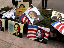 Obama Portraits Stock Images