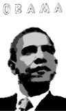 Obama Poster. A fully scalable vector illustration of Barack Obama. Jpeg & Illustrator AI file formats available Royalty Free Stock Photography