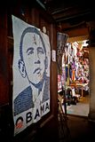 Obama poster in kenya Royalty Free Stock Image