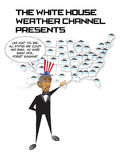 Obama. President Obama's weather channel Stock Photos