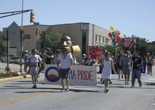 Obama Pride at Circle City INPride Parade stock images