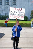 Obama que fale América Fotografia de Stock