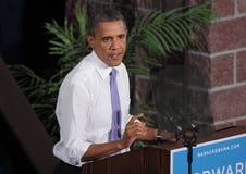 Obama Seriusly talar i Reno Fotografering för Bildbyråer