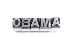 Obama sign, antique metal letter type Stock Images