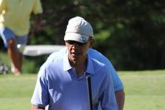 Obama som spelar golf Hawaii Royaltyfri Bild