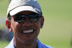 Obama som spelar golf Hawaii Royaltyfri Foto