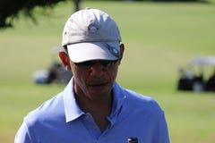 Obama som spelar golf Hawaii Royaltyfri Fotografi