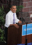Obama Speaks in Reno Stock Image