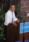 Obama spricht in Reno Stockbild
