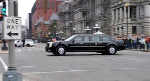 Obama sur le mouvement Photographie stock libre de droits