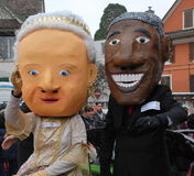 Obama and Pope at Swiss Carnival Royalty Free Stock Photography