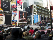 Obama Times square Royalty Free Stock Images