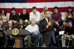 Obama Town Hall 1002 Stock Photography