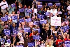 Obama verklaart Overwinning in St. Paul, Mn Royalty-vrije Stock Foto's