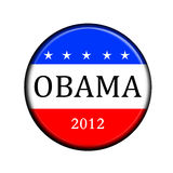Obama vote button. Election button for the democrats party in american style Stock Photography