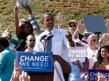 Obama w Asheville Zdjęcie Royalty Free