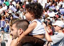 Obama wiec w Asheville fotografia royalty free
