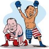 Obama winning over Mccain Stock Photos