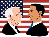 Obama y McCain Fotografía de archivo libre de regalías