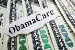 Obamacare金钱 免版税库存照片