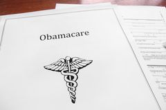Obamacare. Aka Affordable Care Act document Stock Photos