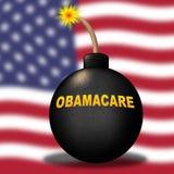 Obamacare-Aufhebung oder uns ersetzen Gesundheitswesen-Reform - Illustration 3d lizenzfreie stockfotos