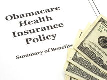 Obamacare Costs Cash Stock Photography