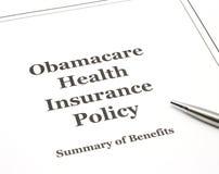 Obamacare pronto para ser assinado. Imagens de Stock Royalty Free