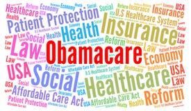Obamacare słowa chmura royalty ilustracja