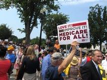 Obamacare supportant Photo libre de droits