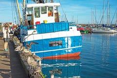 从Oban格特鲁德的渔船 免版税图库摄影