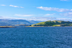 从Oban的看法,苏格兰镇在Argyll和保泰松 库存图片