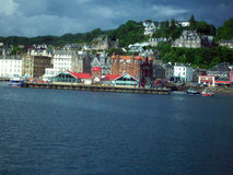 Oban,苏格兰港  库存图片