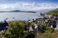 Oban. View of Oban from McCaigs Tower Argyll Scotland Royalty Free Stock Images