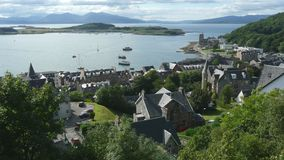 Oban from above. Nice shot of Oban from Mc Caig tower Stock Images