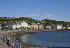 Oban Bay. The promenade alongside Oban bay in the town of Oban, Scotland Royalty Free Stock Photos