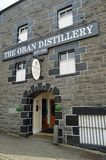 The Oban Distillery Scotland. Oban distillery is a whisky distillery in the Scottish west coast port of Oban. Established in 1794, it was built before the town royalty free stock images