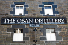 Oban Distillery sign Stock Photo