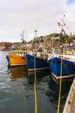 Oban hamn, Oban, Argyle, Skottland 28th Augusti 2015 Arkivfoto