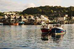 Oban hamn, Oban, Argyle, Skottland 28th Augusti 2015 Arkivbild