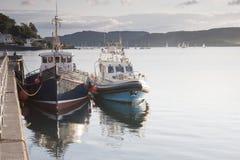 Oban Harbor,. Boat in Oban Harbor, Scotland Royalty Free Stock Photo