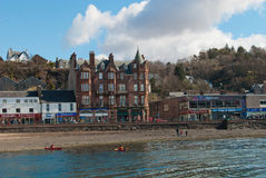 Oban harbor. Harbor in the town of Oban, Scotland Royalty Free Stock Photo