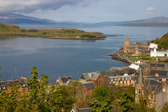 Oban harbour. View of Oban harbour in the west of scotland stock image