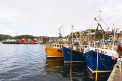 Oban Harbour, Oban, Argyle, Scotland. 28th August 2015 Royalty Free Stock Photography