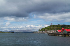 Oban from the harbour Royalty Free Stock Photography