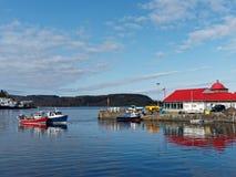 OBAN, l'ECOSSE, MAY-8, 2015, baie d'Oban, bateaux de pêche et fruits de mer r photo stock