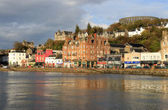 oban scotland för argyll seafront Arkivfoton