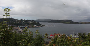 Oban, Scotland. View on Oban Harbour from McCaig´s tower Royalty Free Stock Photos