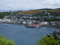 Oban, view from the hills Stock Photo