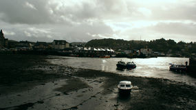Oban. Village of oban in low tide Royalty Free Stock Photo